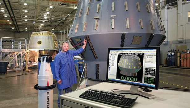 verisurf software at spacex inspecting with laser tracker